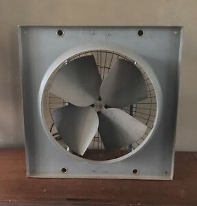 Vtg Peerless Electric Motor Industrial Exhaust Blower Propeller Fan Steampunk Ge
