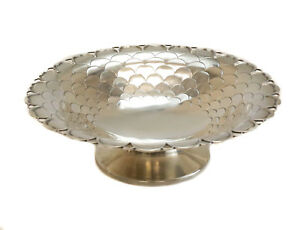 Mappin Webb Sheffield Sterling Silver Footed Bowl Petals 1920