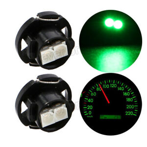 100x Green T4 7 Light Neo Wedge Led 2smd 3528 Car Instrument Cluster Panel Light