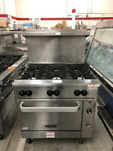 Vulcan 36s 6bn 36 Gas Range With 6 Open Burners On Oven Base Refurbished