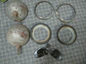 1935 1936 Ford Pickup Truck Matched Pair Headlights With Mounts And Adapters