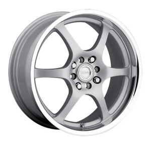 4 14 Inch Raceline 126 14x5 5 5x100 5x114 3 5x4 5 35mm Silver Wheels Rims