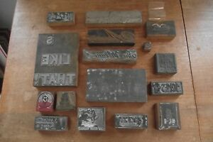 Antique Letterpress Print Blocks 16 Skaneateles Ny The Skaneateles Press
