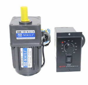 New Ac 15w 220v Gear Motor Electric Motor Variable Speed Controller 1 10 125rpm
