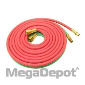 Uniweld H100b Oxyacetylene 1 4 X 100 Grade r Twin Hose With b Connection