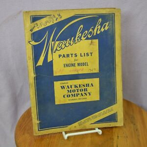 Waukesha 6m Series 1947 Engine Factory Original Parts List Catalog Manual Book