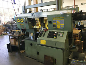 18 X 18 Used Hydmech Automatic Dual Post Horizontal Band Saw Mdl H 18p A54
