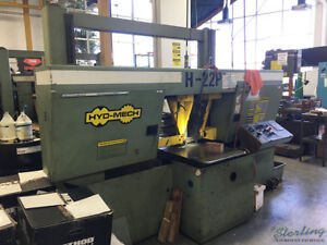 22 X 22 Used Hydmech Automatic Dual Post Horizontal Band Saw Mdl H 22p A54