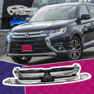 Mitsubishi Outlander Front Bumper Grille Grill Chrome Fits 2017 2018
