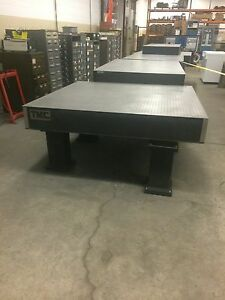 Tmc Vibration Isolation Table 60 x60x32 Rubber Mounted Legs Breadboard Top
