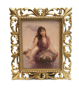 Very Fine Kpm Porcelain Plaque Beauty Collecting Cherubs C1890 Signed Walther