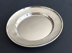 Set Of 9 G H French Co Sterling Silver Bread Plates 1920s No Monogram