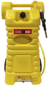 25 Gallon Portable Yellow Diesel Caddy Fuel Wheel Poly Heavy Duty Tank Storage