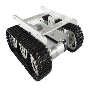 Perfeclan Smart Robot Tank Car Chassis Aluminum Alloy Tank Chassis Silver