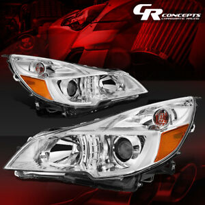 Chrome Housing Amber Corner Projector Headlight For 10 14 Subaru Outback legacy
