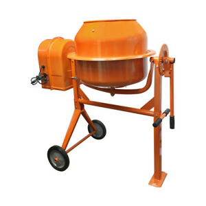 3 1 2 Cubic Ft Portable Electric Steel Cement Mixer Machine 1 3hp Mixing Mortar