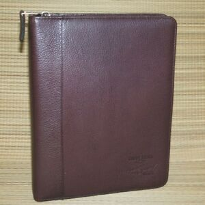 Franklin Covey Brown Burgundy Pebbled Leather Planner Binder Classic Chevy 1 25