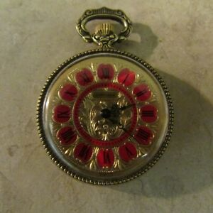 Vintage Cortland Swiss Ladies Hand Winding Running Pocket Pendant Watch Runsfine