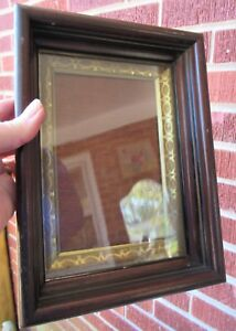 Antique Small Eastlake Walnut Shadowbox Miniature Frame 4 3 4 X 7 In Fit 1900s