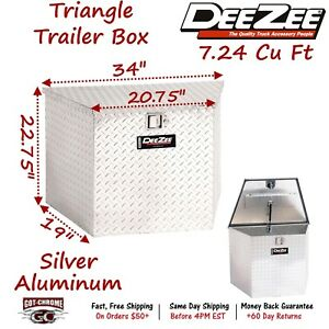 Dz91717 Dee Zee Aluminum Trailer Tongue Tool Box Triangle
