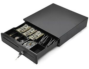 Tangkula Cash Register Drawer Box Portable Money Lock Storage With Removable Tra