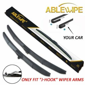 Ablewipe Windshield Wiper Blades Fit For Chevrolet Cruze 2011 2015 J Hook Hybrid