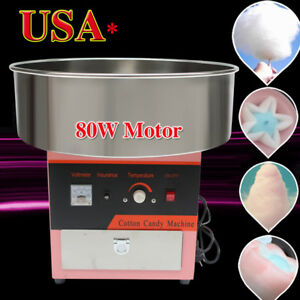 Electric Cotton Candy Machine W High Speed Motor Floss Carnival Commercial Usa
