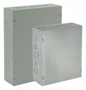 Hoffman 12 h X 8 w X 4 d Metallic Enclosure Gray Knockouts Yes Screws