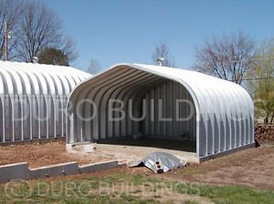 Durospan Steel 25x20x12 Metal Building Prefab Garage Open Ends Factory Direct