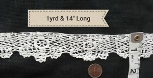 A20 Vintage Lace Irish Crochet Trim Edging Sewing French Doll Blythe