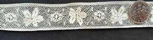 A26 Antique Sewing Lace French Insertion Insert Trim Sew Doll Clothes 1yd