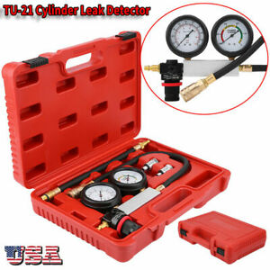 Cylinder Leak Tester Petrol Engine Compression Leakage Leakdown Detector Tool