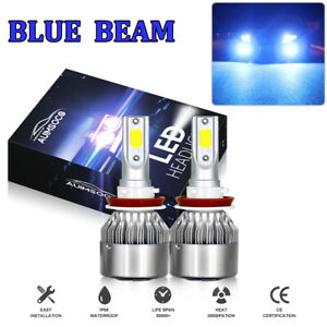 Led Headlight Kit H11 H8 H9 8000k Blue Fog Light Bulbs Bright High Or Low Beam