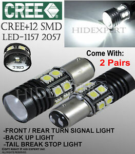 1157 Cree Led 12 Smd Replace Sylvania Halogen Front Turn Signal Light Bulb H128