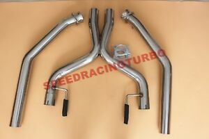 Exhaust X Pipe Piping For 05 10 Mustang 4 6l V8 Ss 2 5 Od High Flow Race Catless