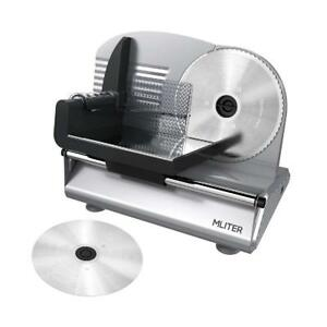 150w Electric Food Meat Slicer Machine 2 Stainless Steel Blades Adjustable 7 5