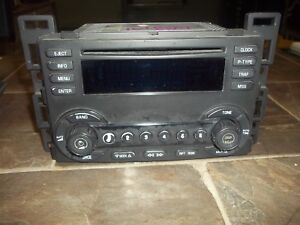 2004 2005 2006 Chevy Malibu Am Fm Radio Single Disc Cd Player Pn 15806594 Oem