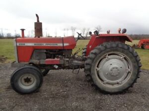 1983 Massey Ferguson 298 Tractor 2wd Perkins Diesel 2 Remotes 4 626 Hours