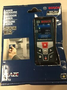 Brand New Bosch Blaze Glm 42 135 Ft Laser Measure W full Color Display sealed