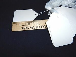 1000 White Price Tags With String Large 8 3 1 4 X 2 New