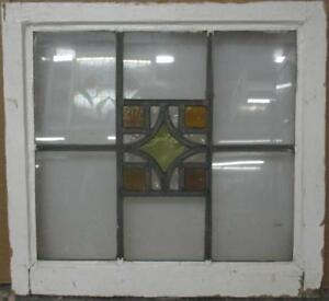 Mid Sized Old English Leaded Stained Glass Window Simple Geometric 24 X 22 25