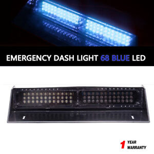 New Car 68 Led Blue Strobe Flash Light Dash Emergency Flashing Light