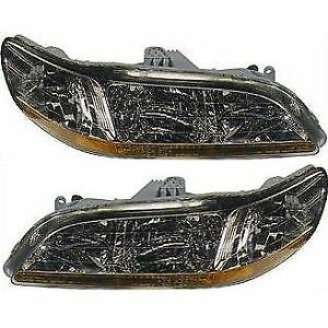 Headlight Set For 2001 2002 Honda Accord Driver And Passenger Side
