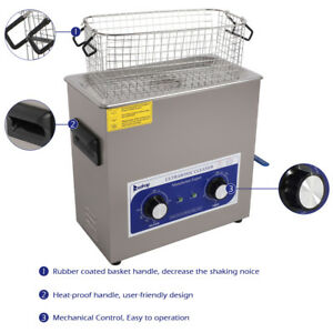 6l Digital Ultrasonic Cleaner Kit Ultra Sonic Bath Timer Cleaning Reliable