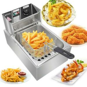 2500w Electric Deep Fryer Commercial Restaurant Steel 6 Liter