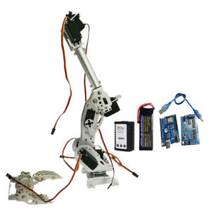 Perfeclan Wifi Control 8 Dof Robot Arm Gripper Kit Mg 996r Servo Silver