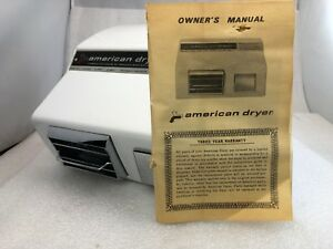 American Dryer 115 Volts 20 Amps 60 Hz White P n Am20