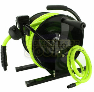 Flexzilla 3 8 X 50 Hand Crank Air Hose Reel 300 Psi Portable L8651fz W Hose