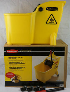 Rubbermaid 7281 Professional 28 Quart One Piece Mop Bucket Lightweight On Wheels