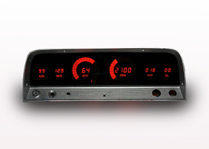 Chevy Truck Digital Dash Panel Gauges Intellitronix Red Leds 1964 1966